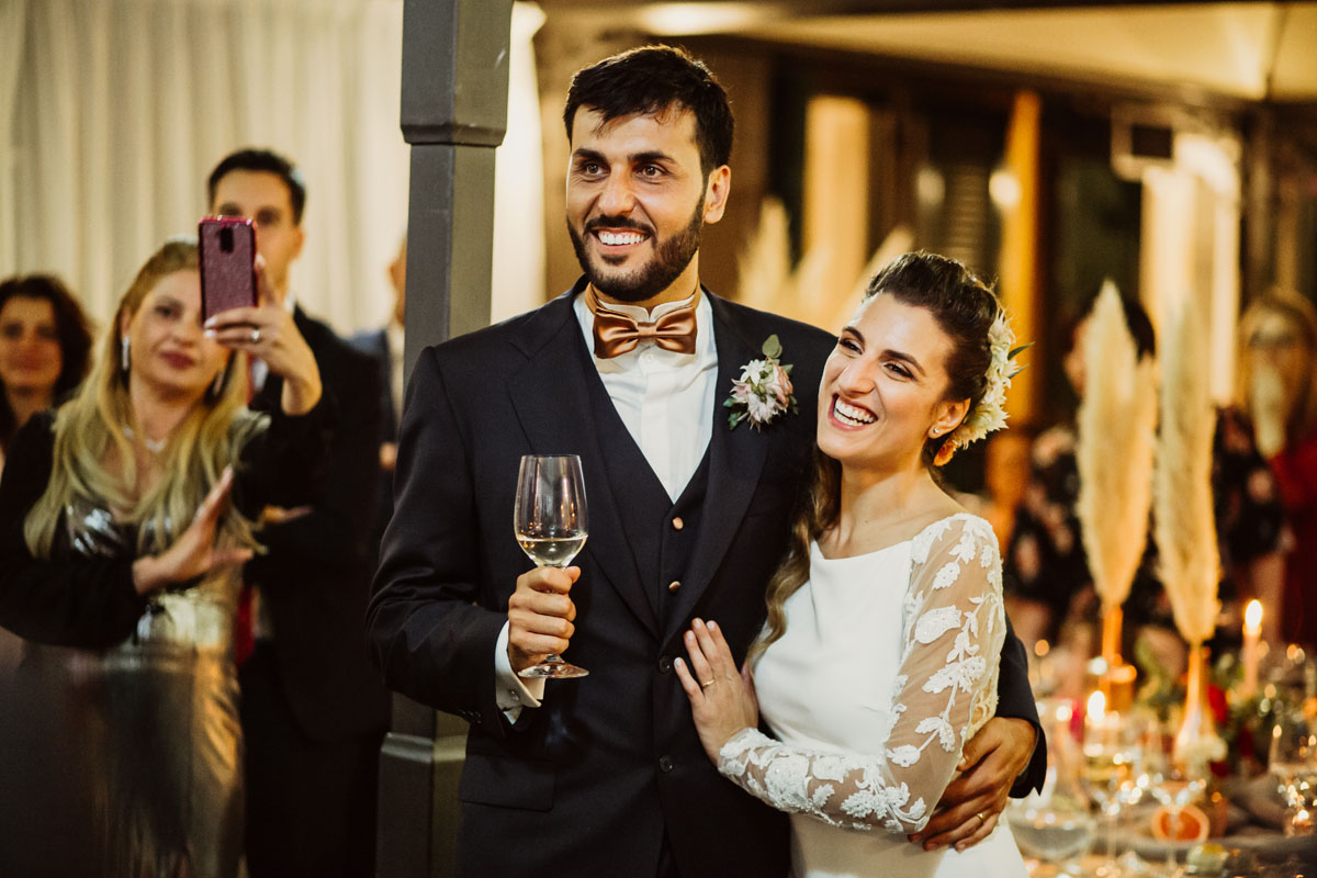 bride and groom in a pic by Fabio Schiazza